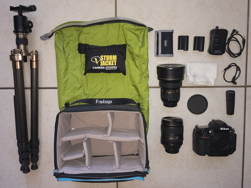 My photographic equipment for hikes.