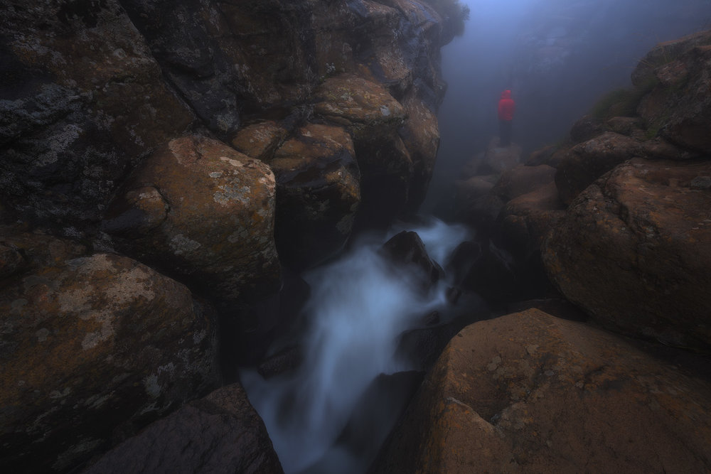 Bilanjil River Drakensberg Rock Amphitheatre Mist Gorge River Landscape Photo