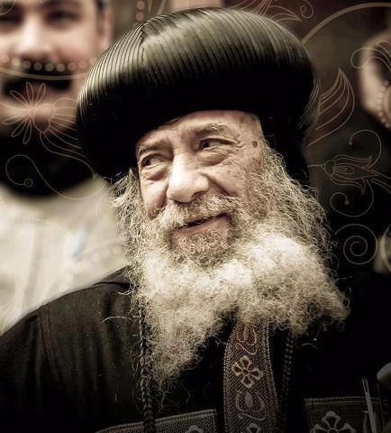 pope shenouda smiling