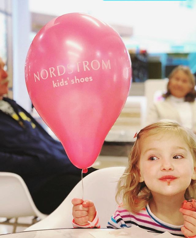 After a full 7 days of battling the flu, my baby girl is back up and doing what she does best. Shopping at @nordstrom and snacking on @godiva truffles. . . . . . #kristyelizabethdesign #minime #mallday #godiva #godivachocolate #nordstrom #nordstromkids #mybabygirl #myheart #loveyoutothemoonandback #annapolismd #annapolismall #pinkballoon #fluseason #thankgoditsfriday #thankgoditsover