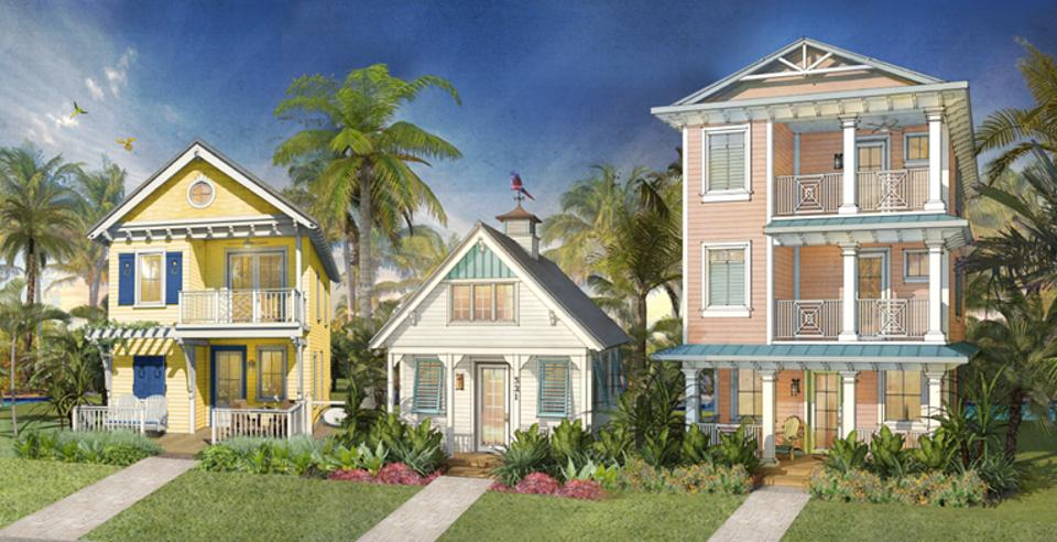 Rendering by The McBride Company.Margaritaville Resort Orlando vacation cottages