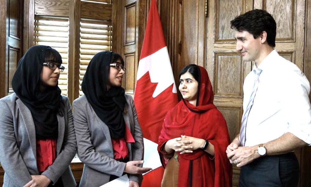 Maryam and Nivaal Rehman interview Malala Yousafzai and Justin Trudeau