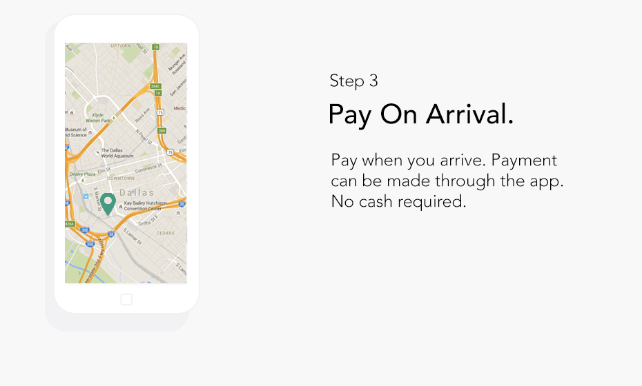 Step 3: Pay on Arrival