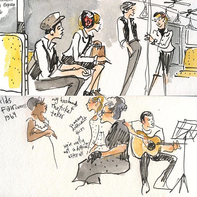 Production sketches by Joan Chiverton