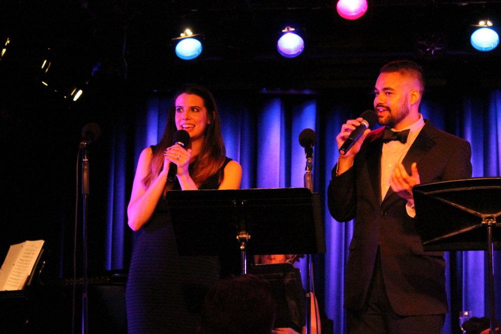 McGuire & Simon onstage