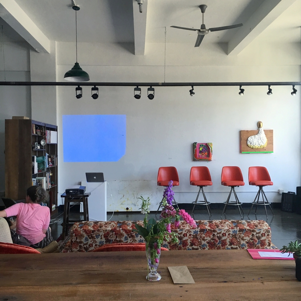 Before the start of SHOP TALK: The Art of Green Living