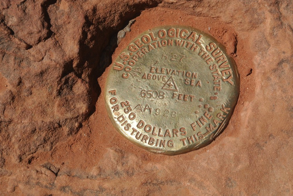 Just gettin' a little high. Geological Marker, Observation Point, Zion National Park.