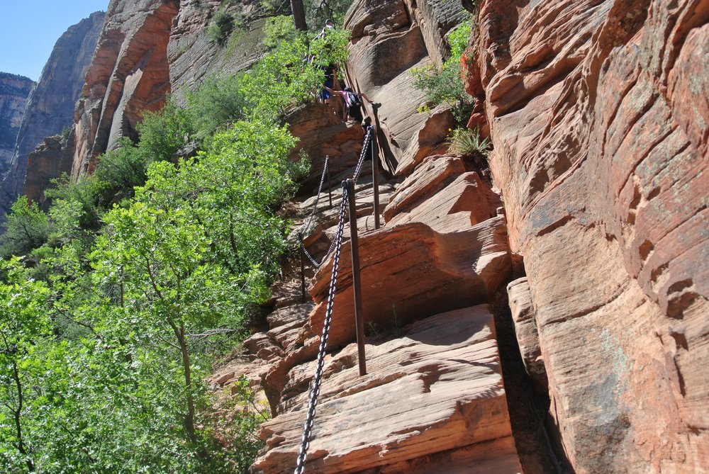 Whole lotta noooope. Chains, Angel's Landing, Zion National Park.