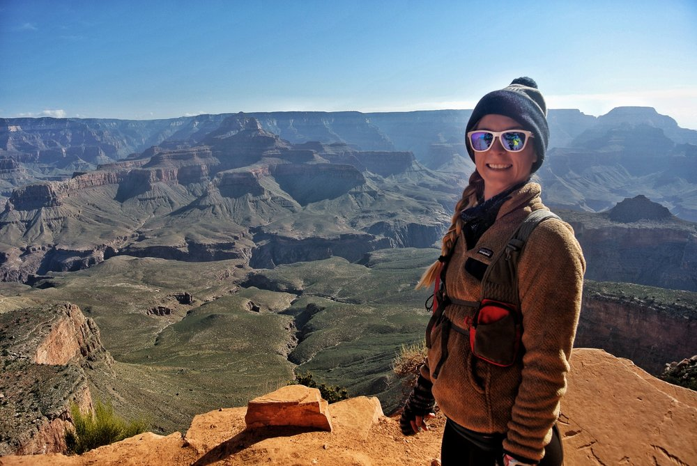The view from South Kaibab Trail, South Rim, Grand Canyon