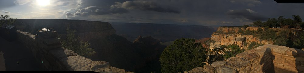 View from Bright Angel Trailhead, South Rim, Grand Canyon.