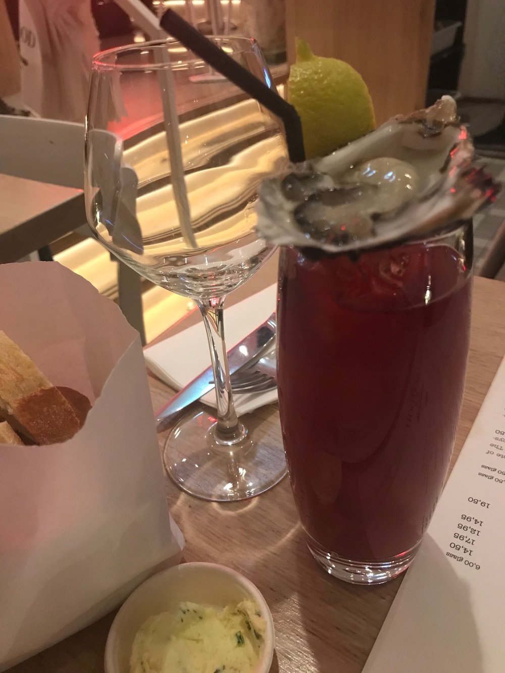 Bloody Mary and an oyster shooter!