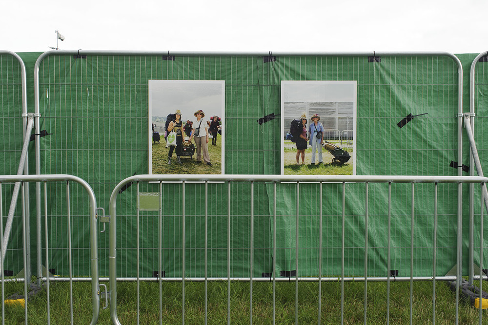 Installation view of 'The Vale of Avalon' exhibition at Glastonbury Festival,21st - 28th June. 2016.