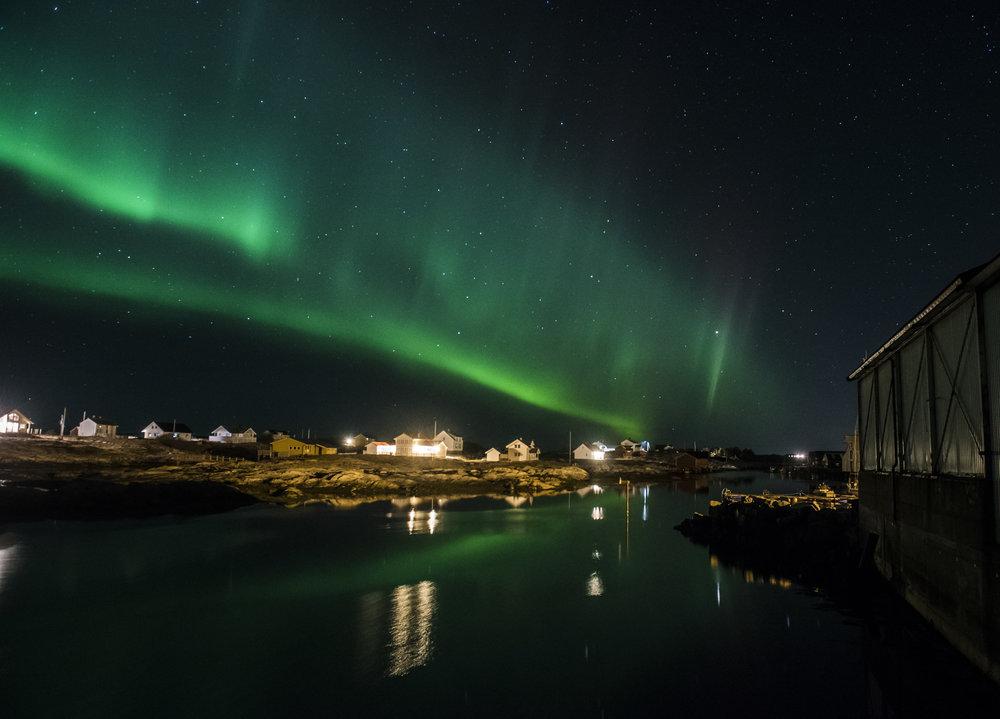 Nordlyset er vakkert på Hitra og Frøya! Foto: Stian Vatn
