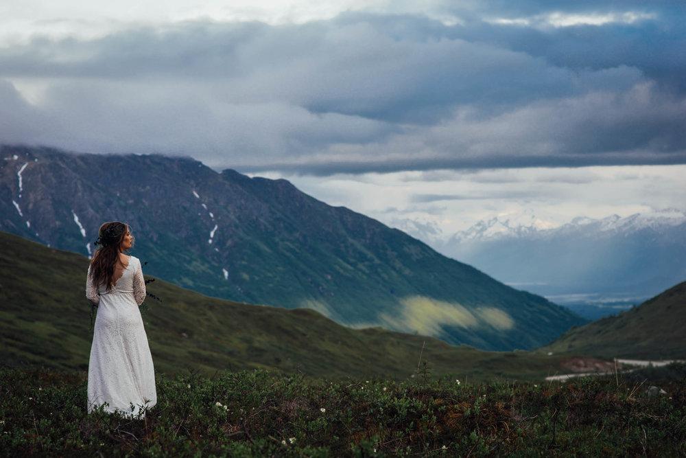 lydia's bridal shoot - hatcher pass - talkeetna mountains, AlasKa