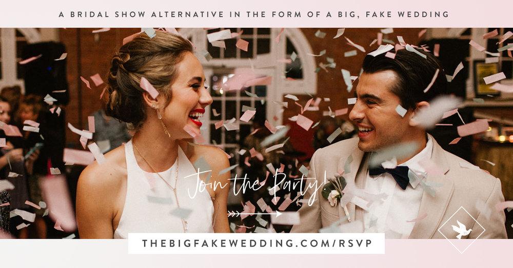Image from    thebigfakewedding.com.