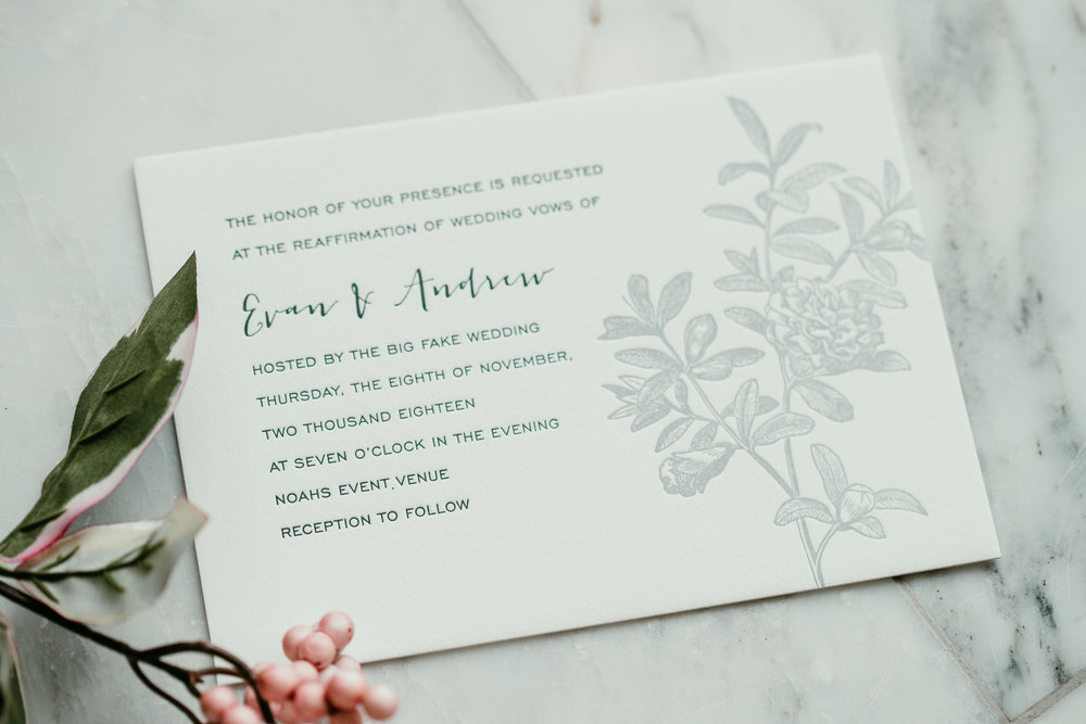 Invitation suite by the ever-so-talented  Furr & Friend .