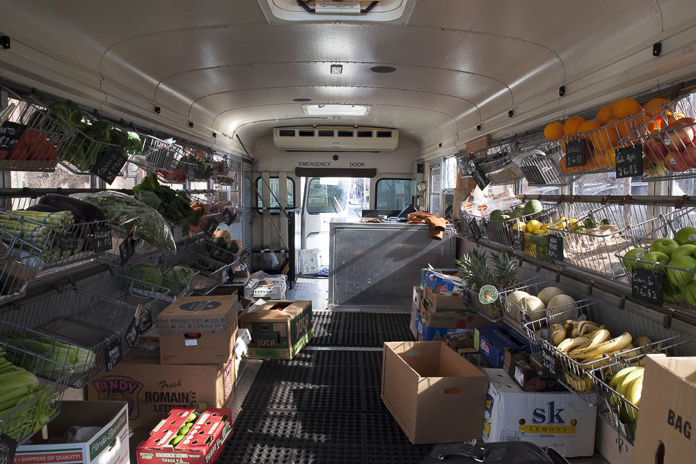 With a fleet of three school buses converted into mobile grocery stores, Fresh Truck serves weekly markets in Charlestown, Dorchester, East Boston, Roxbury and the South End.