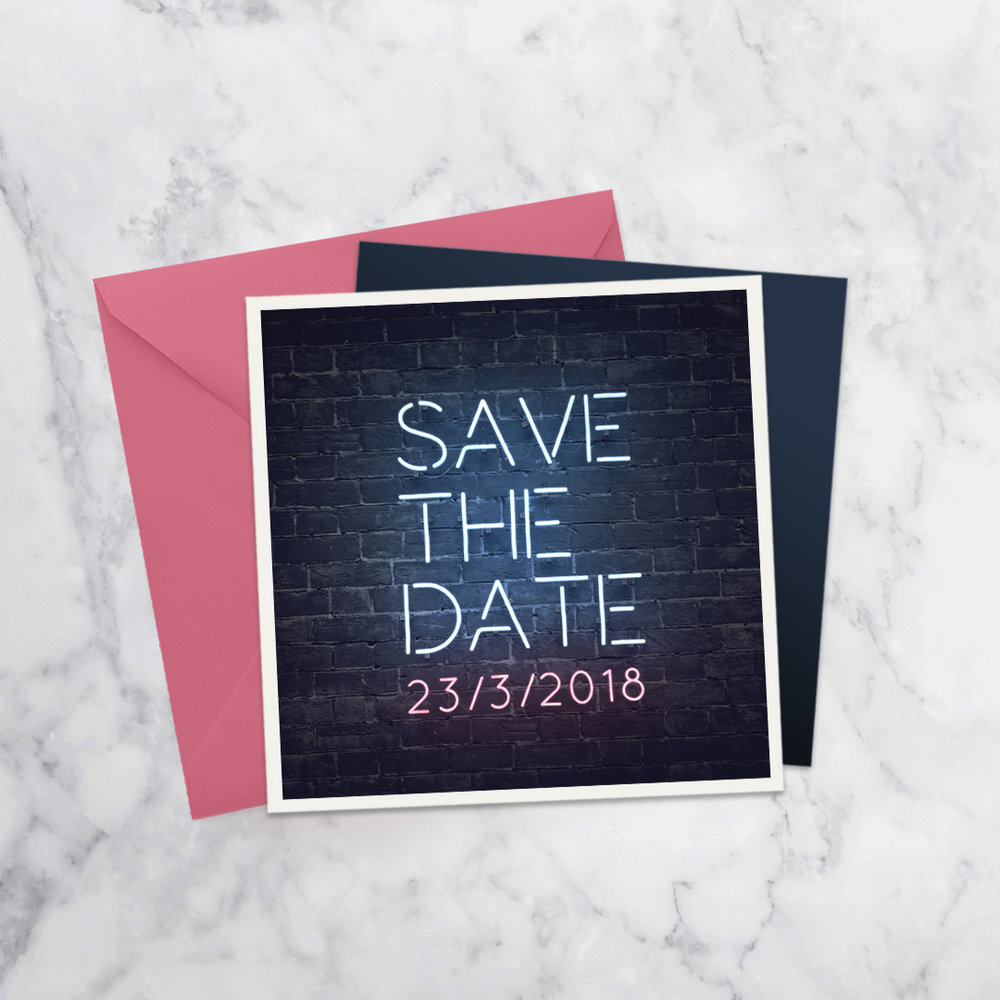 SAVE THE DATE NEON STYLE