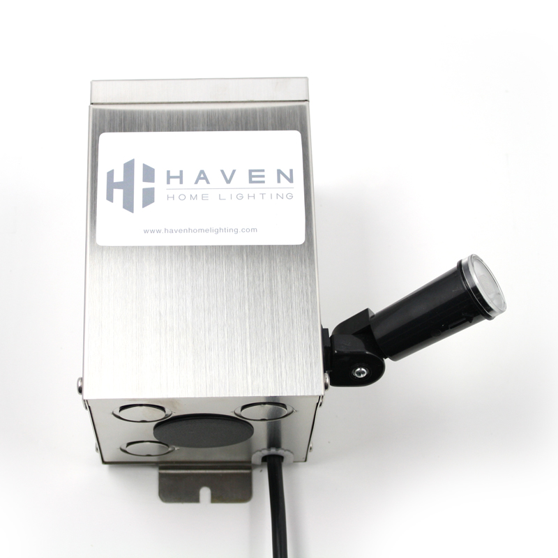 Shown installed on a Haven Home Lighting Transformer