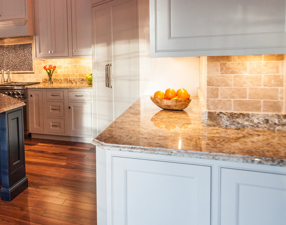 Under cabinet lights used in kitchen both in classic warm white.