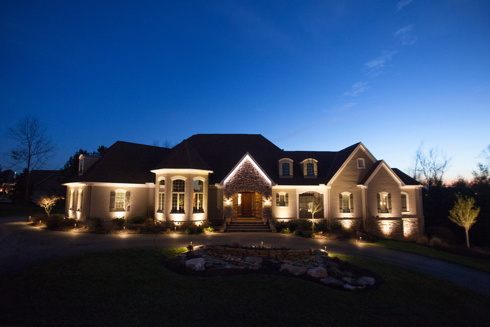 Outdoor LED Up Lights in color and white.