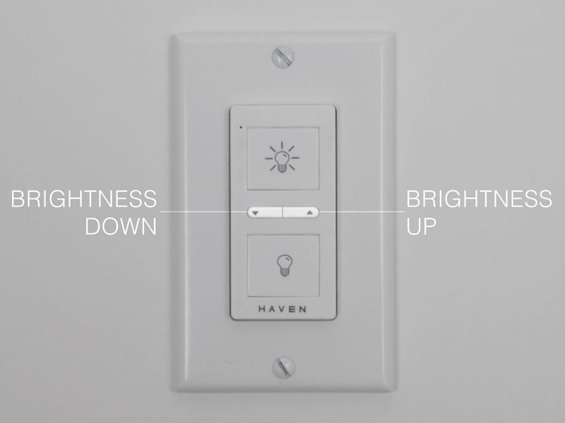 K SERIES Classic White Wireless Wall Switch™ Operation — Haven Home ...
