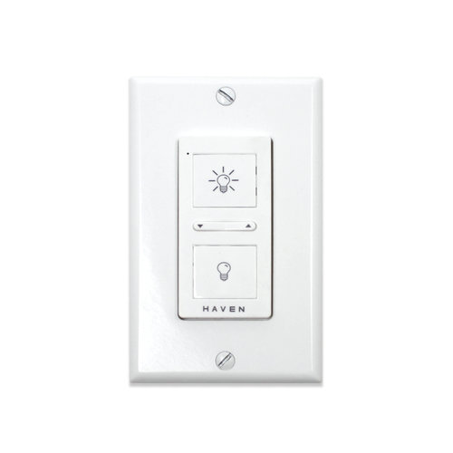 Classic White Wireless Wall Switch Haven Home Lighting