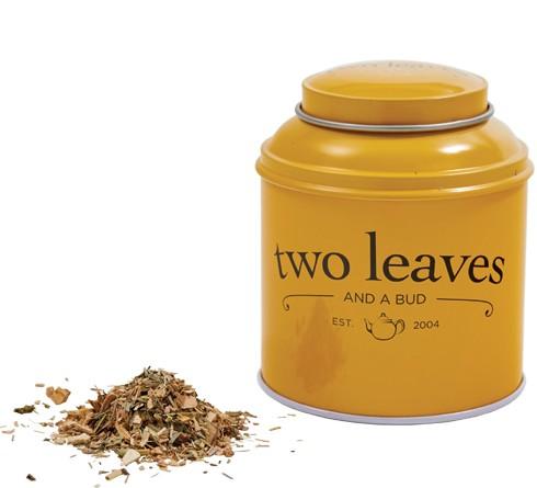 TWO LEAVES AND A BUD TEA - Loose leaf tea tin - $11