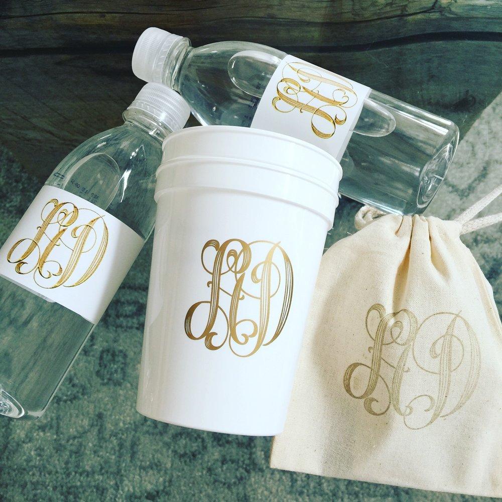CUSTOM ITEMS - Water bottles & Stadium Cups - $2 - $5