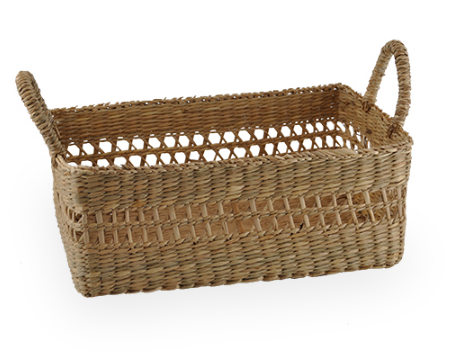 NATURAL PALM BASKET - $8