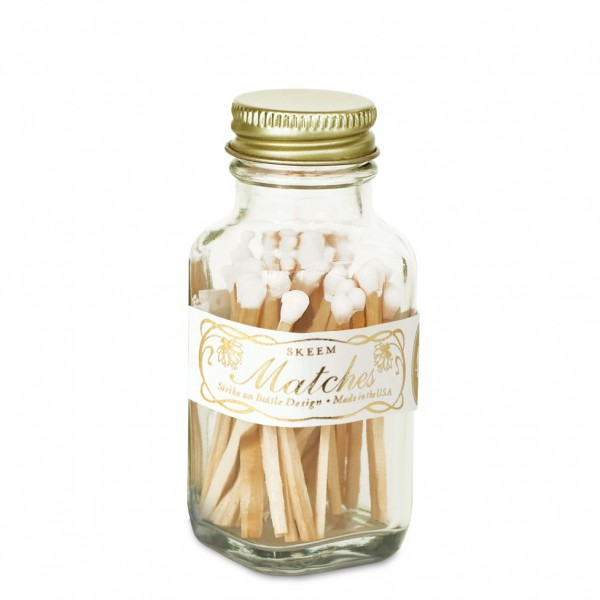 SKEEM MATCHES - White and Gold - $14