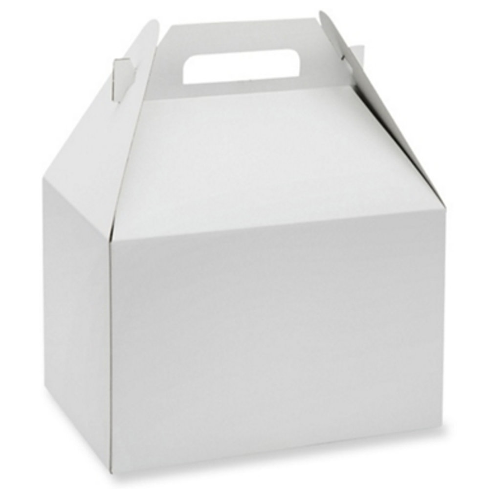 Gable Box - Small - $4 / Large - $5No Minimums / White or Kraft