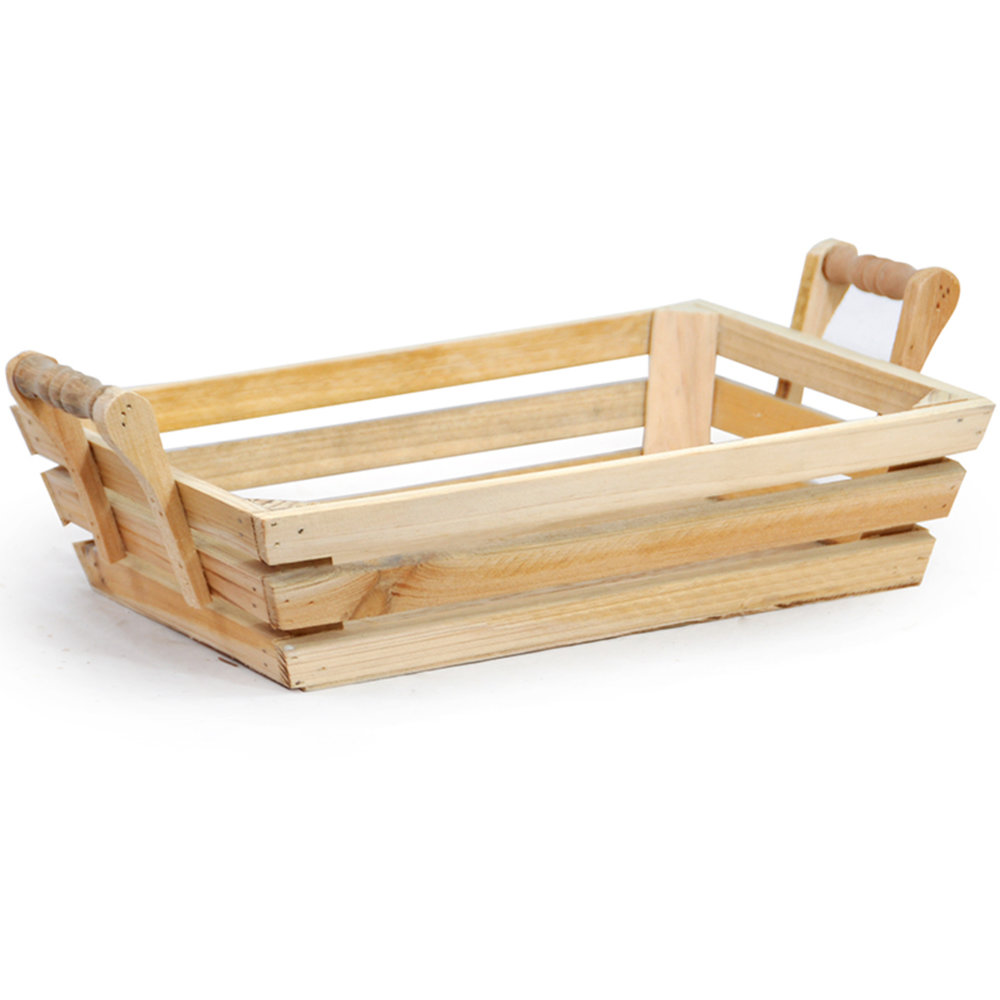 Wood Tray w/ Handles - Large - $14Available in Natural or White