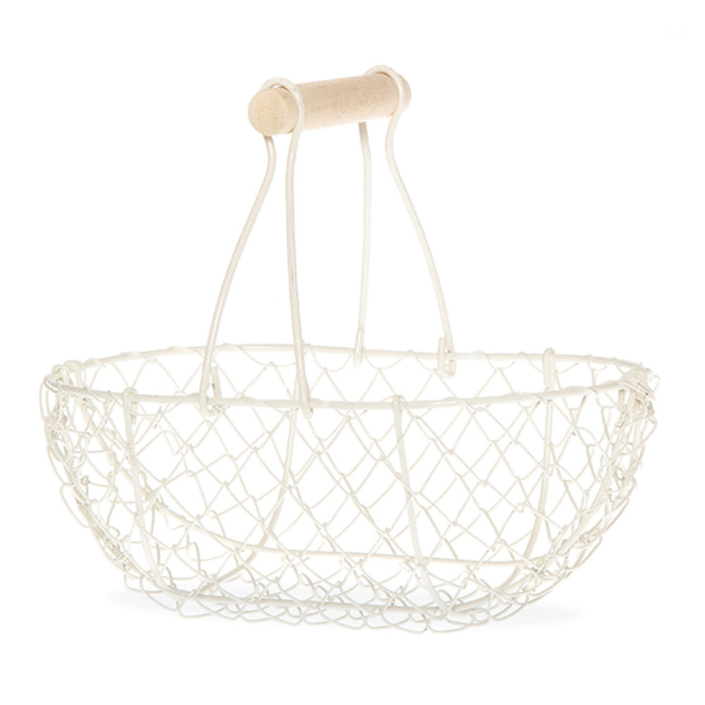 Wire Fixed Handle Basket - Medium - $5 / Large - $7.5010 Minimum