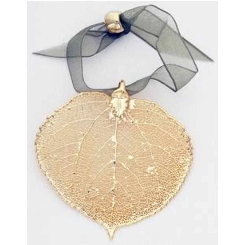 Aspen Leaf Ornament - Gold or Silver - $12