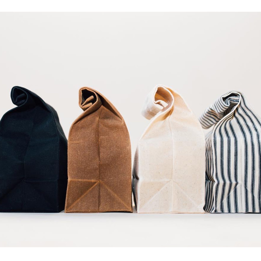 Waxed Snack Bags - Reusable Canvas 10oz - $18