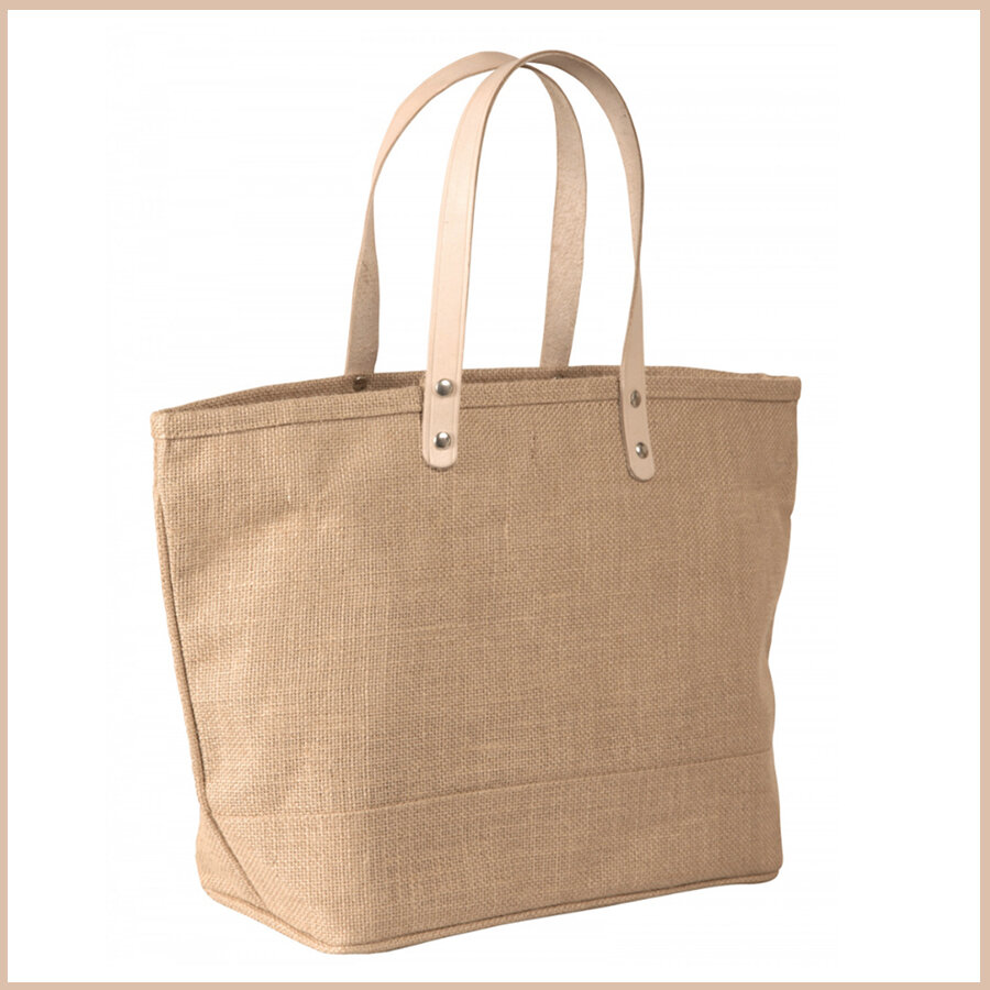 Two Tone Burlap Bag