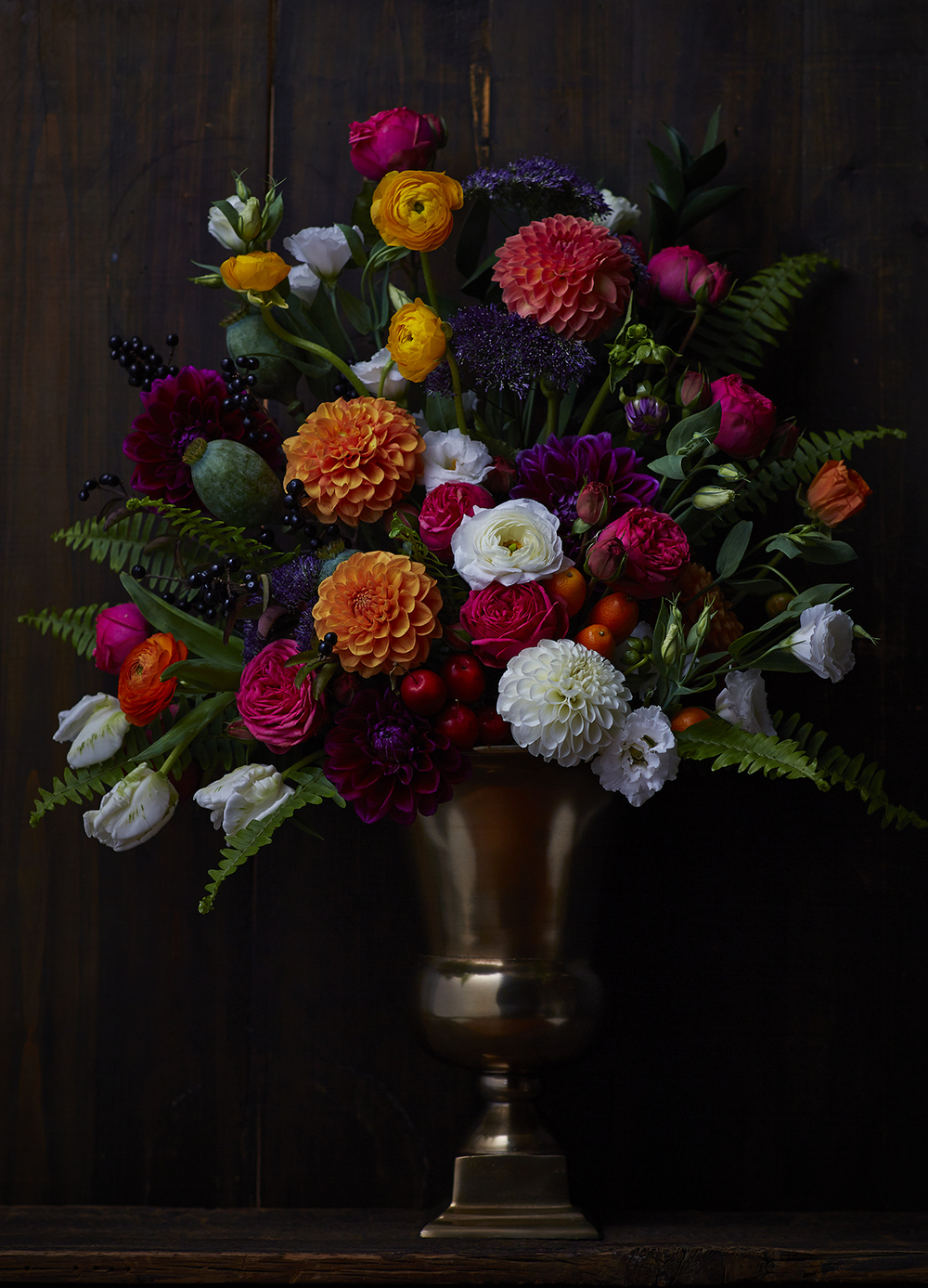 Colour & Plenty | Display florals inspired by Old Master still life paintings