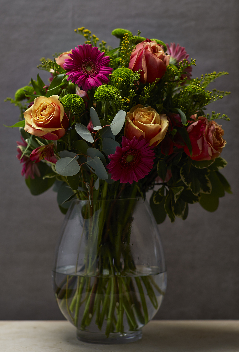 Bright Berry & Peach | Bold vase florals