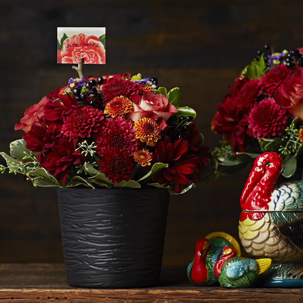 Cozy Copper | Handsome harvest table centrepiece