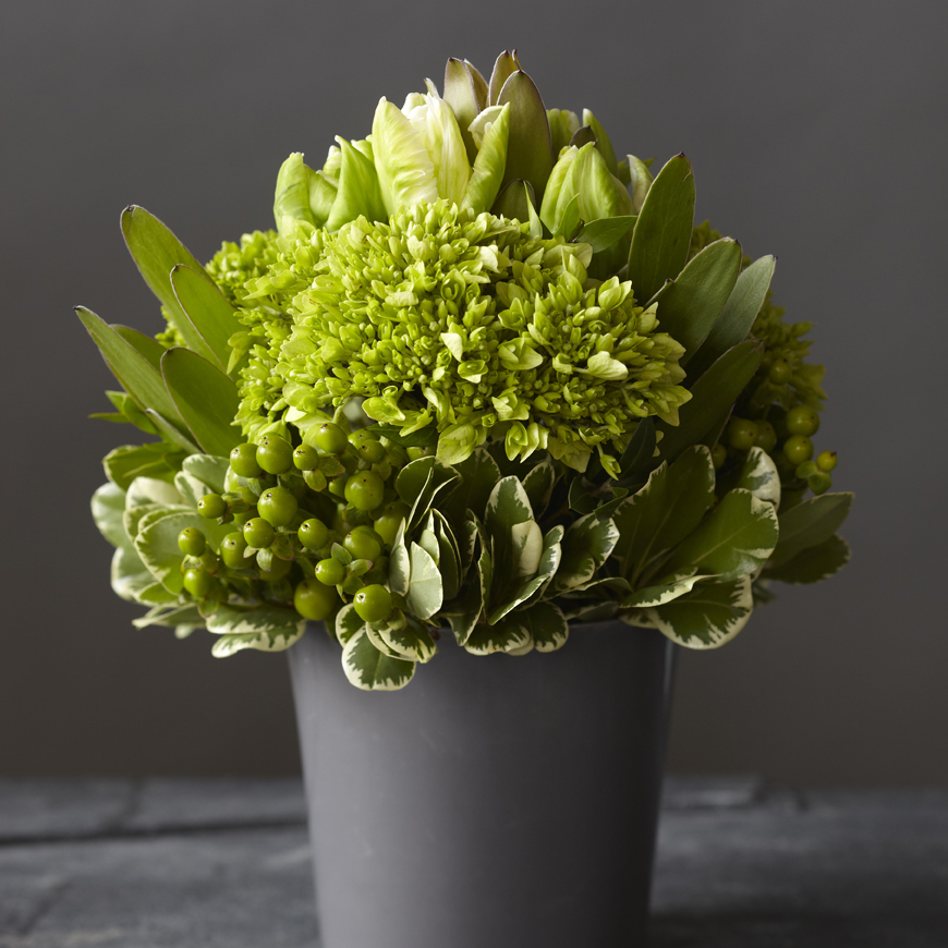 Crisp Chartreuse | Contemporary monochromatic, textured design