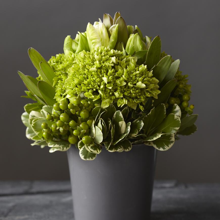 Crisp Chartreuse | Contemporary monochromatic, textured design