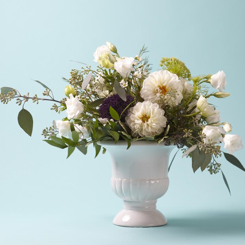 Genteel Whites |Contemporary English Garden centrepiece