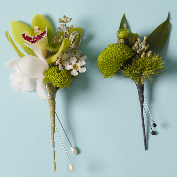 Genteel Whites & Greens | Corsage & boutonnière