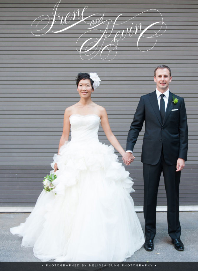 """True Love, True Luxury: Irene & Kevin.""   WedLuxe Magazine Blog,  November 30, 2012. Photo: Melissa Sung Photography"