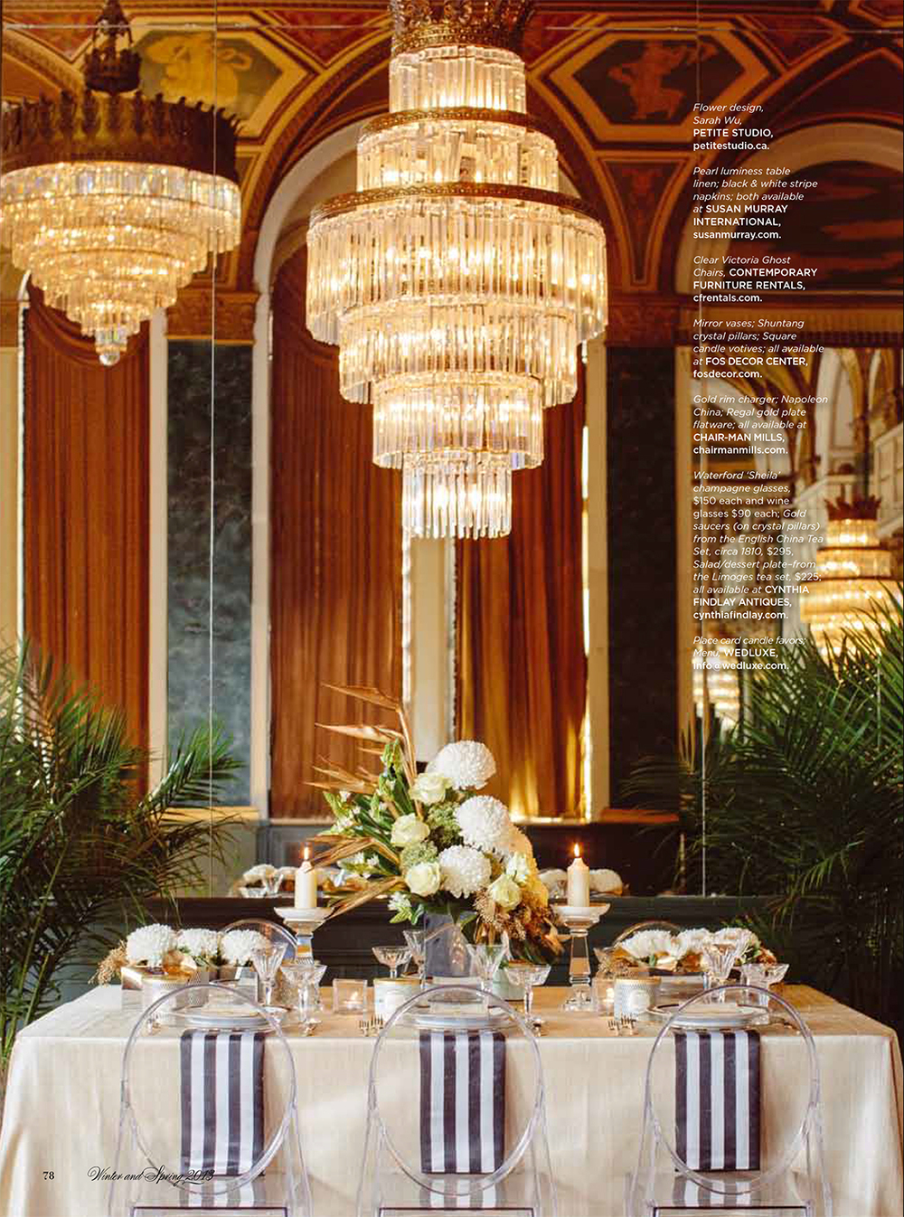 """Gatsby Girl.""  WedLuxe Magazine,  Winter/Spring 2013. Photo: Beth and Ty in Love"