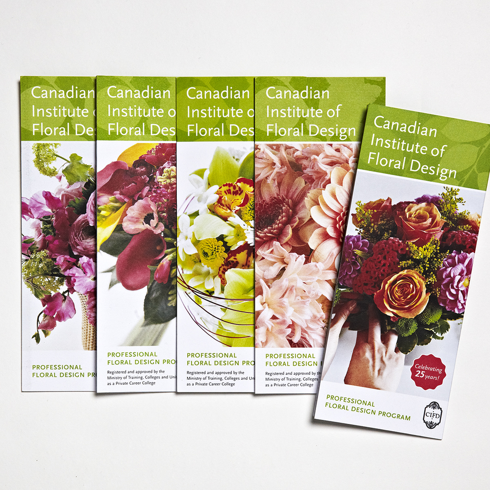 Canadian Institute of Floral Design. Promotional brochures