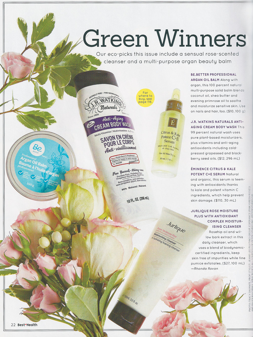 """Green Winners.""  Best Health,  September 2014. Photo: Tracy Shumate. Prop Styling: Jeanie Lee/Plutino Group"