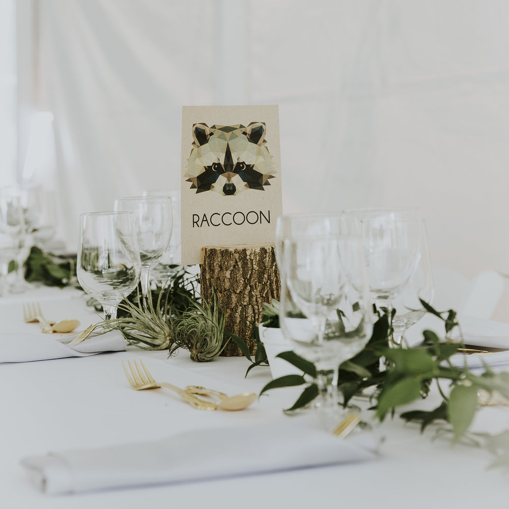 Woodland green tablescape | Photo: Alyssa Wodabek