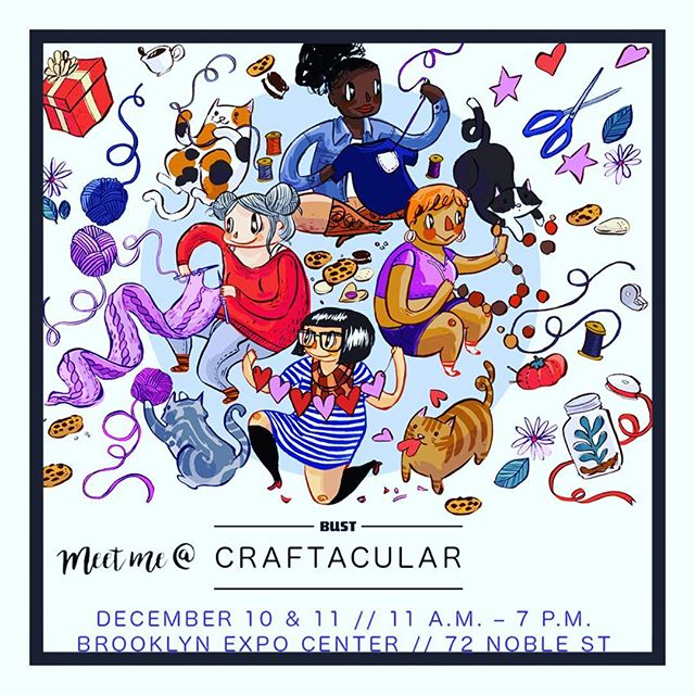 We are so excited to announce that yours truly will be taking on the BUST holiday Craftacular! The perfect time to pick up holiday gifts or a little something for yourself. ✨🎉#BUSTcraftacular • • • #weekend #nyc #brooklyn #shopping #gifts #holiday #giftideas #candysnacks #food #foodie #fashion #ootd #love #cute #happy #trendy #trending
